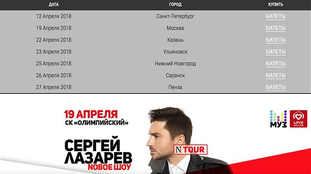 Официальный сайт Сергея Лазарева