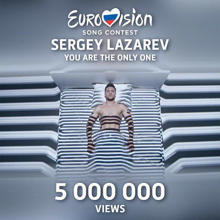 """Лазарев на """"Евровидении"""": клип You are the only one посмотрели более 5 миллионов"""
