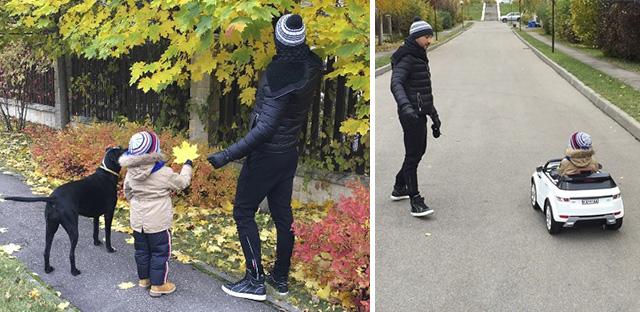 Сергей Лазарев показал фото с сыном на осенней прогулке